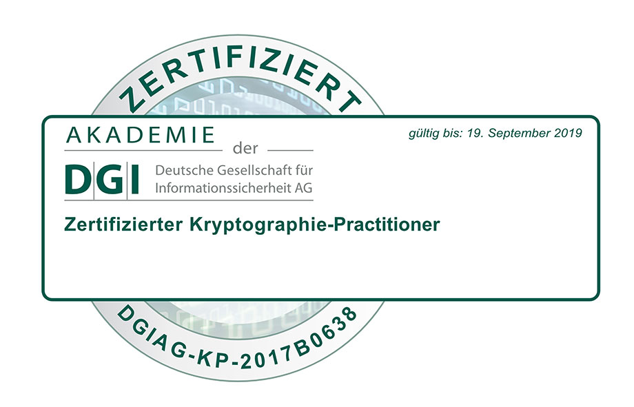 DGI Cryptography Practitioner Certificate